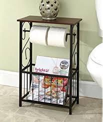 Magazine Rack Bathroom by Amazon Com Brylanehome Scroll Toilet Paper Magazine Holder Home