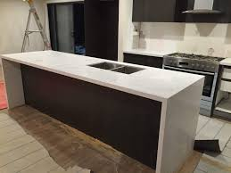 Kitchen Benchtop Ideas Unbelievable Prefabricated Carrara Quartz Benchtop Image Of Prefab