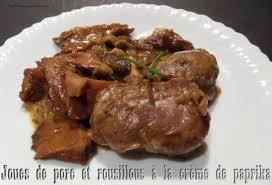 cuisiner joue de porc joues de porc et rousillous a la crème de paprika recettes