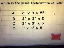 exponents prime factorization and order of operations flipquiz