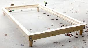 how to make a king size bed frame cheap how to build bed frame for