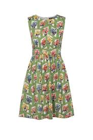 Vintage Flower Pots - emily and fin lucy dress green vintage flower pots talis