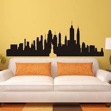 popular nyc wall mural buy cheap nyc wall mural lots from china new york city skyline silhouette the big apple wall sticker nyc vinyl wall decal art home