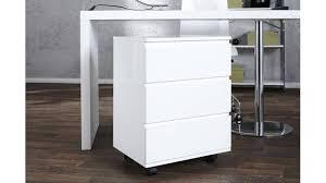 caisson bureau blanc caisson de bureau blanc avec trois tiroirs et des roulettes