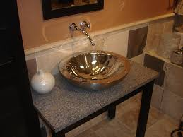 elegant small bathroom ideas with cool round stainless steel