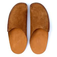 mens leather bedroom slippers tan leather slippers for men and women by cp slippers