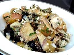artichaut cuisine salade tiède artichaut tofu pommes de terre recette de cuisine