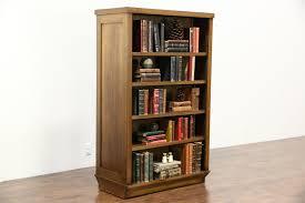 Oak Room Divider Shelves Sold Oak Antique 1910 Double Sided Room Divider Library Bookcase