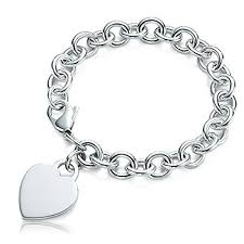 tiffany silver bracelet with heart images Tiffany co bracelet jpg