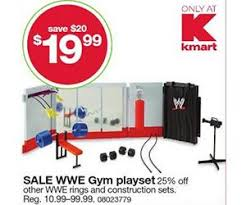 wwe black friday sale wwe gym playset deal at kmart black friday is 19 99