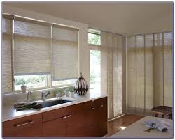 kitchen sliding door window treatment ideas patios home design