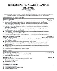 resume objective statement for restaurant management shift manager resume objective fast food restaurant for
