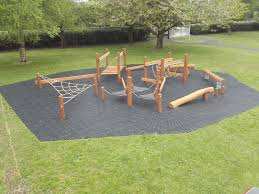 obstacle course playground in newry primary lars play