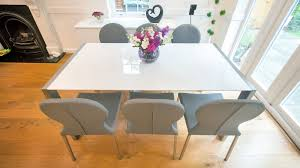 dining table extendable 4 to 8 modern white gloss extending dining table and retro chairs seats 8