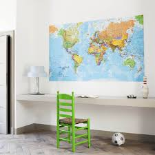 wall art world map ixxi until