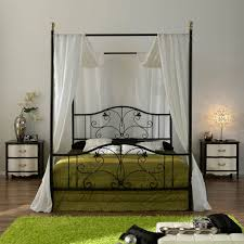 Black Canopy Bed Frame Black Canopy Bed Frame In Mind Install Black Canopy Bed Curtains