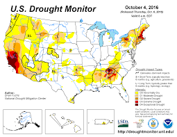 Dry Counties In Usa Map by Drought September 2016 State Of The Climate National Centers