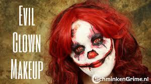 killer clown makeup halloween evil clown makeup tutorial youtube