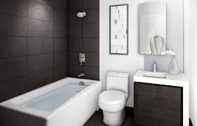 grey white small bathroom designs with shower and tub decoration