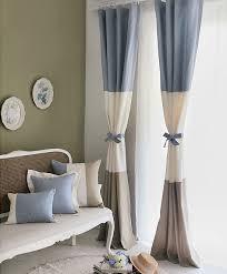 Multi Color Curtains Country Multi Color Cotton Blend Eco Friendly
