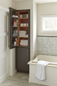 Linen Cabinet With Hamper by Linen Closet With Removable Hamper Diamond Cabinetry