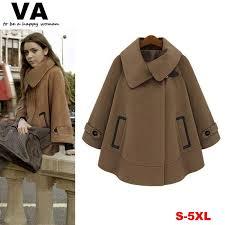 Womens Winter Coats Plus Size 2017 New 2014 Women Cape Coat Plus Size Women Winter Clothing