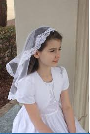 1st communion veils new white communion veil flower girl child veils