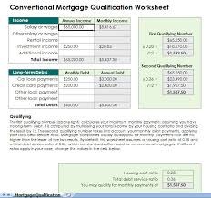 Excel Mortgage Calculator Template Mortgage Qualification Calculator Spreadsheet