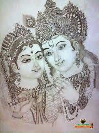 telugu web world beautiful pencil art sketch of lord krishna with