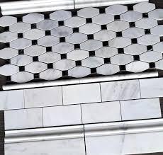 Subway Tile Shower Walls Octagon by 7 50sf Carrara Venato 3x6 Polished Marble Subway Tile And Long
