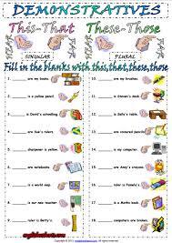 demonstrative pronouns esl exercise worksheet esl printable