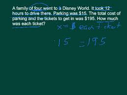 multi step equation writing from word problems