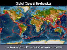 Earthquake World Map by Earthquakes