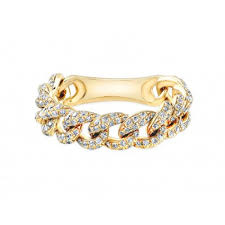 gold pave rings images 14k yellow gold pave diamond link ring rings jpg