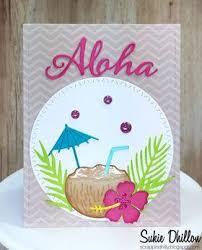 aloha tropical drink die set gina marie designs u2013 scrapbook