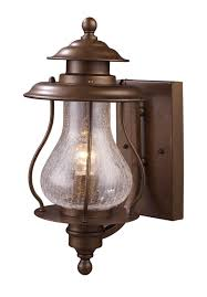 classic brushed copper exterior lighting wall mounted fixtures