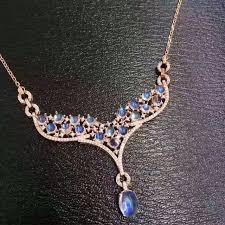 natural gemstone necklace images Natural light blue moonstone necklace natural gemstone pendant jpg