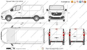 renault van 2017 the blueprints com vector drawing renault trafic l1h1