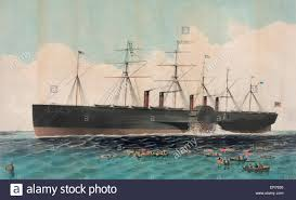 the iron steam ship great eastern 22 500 tons constructed under