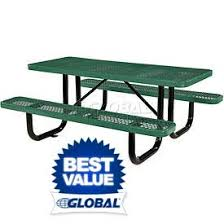 Picnic Benches For Schools Picnic Tables Steel Globalindustrial Com