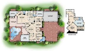 plain color floor plans with dimensions and brochure sample