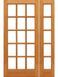 15 light french door 15 lite french brazilian mahogany wood ig glass side light door by