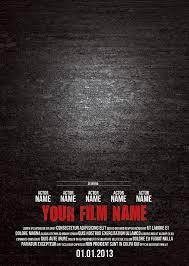 movie poster template psd free resume