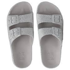 glittery sandals made in brazil cacatoès
