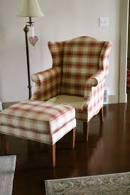 custom slipcovers by shelley black wingback and ottoman