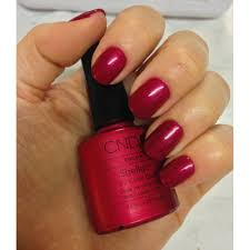 cnd creative nail design shellac power polish red baroness cnd