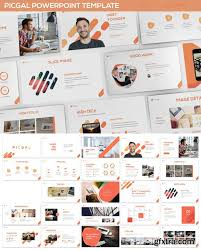 picgal powerpoint template vector photoshop psdafter effects