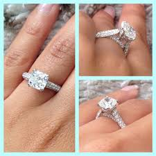 2 carat cushion cut engagement ring 2 carat cushion cut micro pave engagement ring now that s a ring