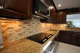 ceramic tile backsplash contemporary kitchen new york by