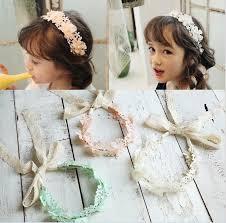 cheap headbands lace princess headbands sweet bowknot kids hair bands flower